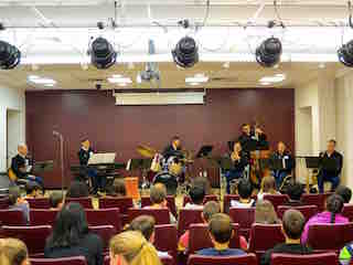 West Point Members of West Point's Quintet Seven performed for Briarcliff Middle and High School band students during a special concert.