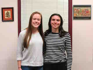 Briarcliff High School seniors Emma Burns (left) and Caroline Pennacchio.