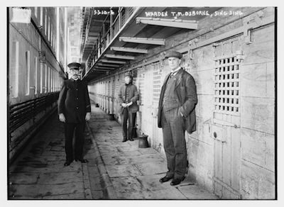 Warden Osborne in Sing Sing Cell Block