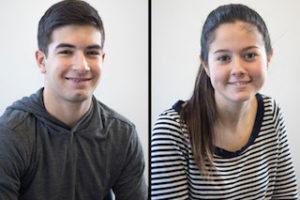 Sophomore Cristian Ishoo and senior Madison Carelli