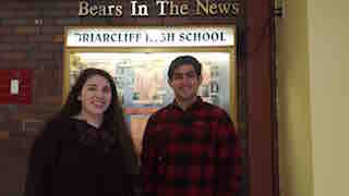 Briarcliff High School students Simone Konrad (left) and Shray Khanna  have been named finalists in the 2016 Columbia Research Scholars  Journal publication.