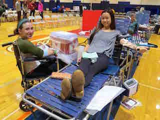 Briarcliff High School's National Honor Society sponsored a New York Blood Center drive  during an especially needy time of year.