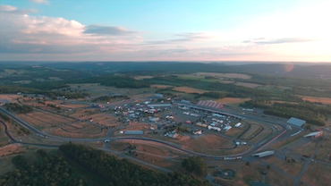 An aerial view of Watkins Glen International