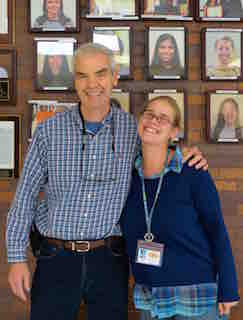 Briarcliff High School teachers Thomas Durkin (left) and Michelle McNeight have been named Collaborators of Excellence by the New York State English Council.