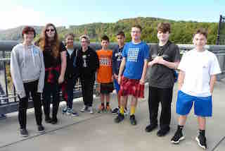 Briarcliff Middle School's eighth-grade students connected history and  science when they visited the Walkway Over the Hudson in Poughkeepsie.