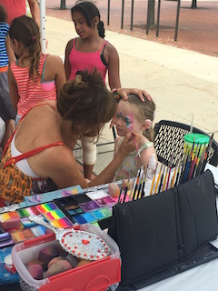 Face painting by Maria