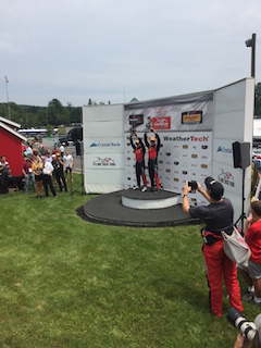 1st Place co-drivers - Matt Bell and Robin Liddell at Continental Tire Sportscar Challenge