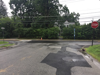 A crosswalk and pedestrian crossing signal will be added at the intersection of Ingham Road and Pleasantville Road.