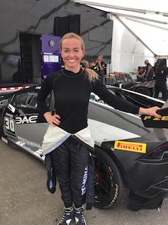 Lamborghini Huracan driver Ashley Freiberg