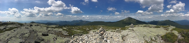 Panoramic view from the summit of Mount Skylight - By Lucio C. Battista