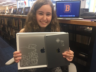 BHS Class of 2017's Eliana Perez designed the covers for iPads and MacBooks for incoming classes this fall.