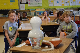 Dows Lane Elementary School students experience the fun, and educational, side of science in Facts of Matter.