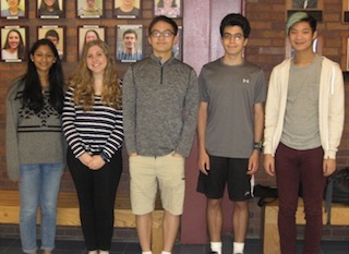 Briarcliff Manor National Merit commended students are: Farhaanah Mohideen, Jane Tilles, Matthew Tu, Andrew Agriantonis, and Dustin Qian.