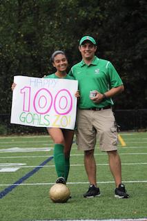 Zoe Maxwell and coach DiBenedetto