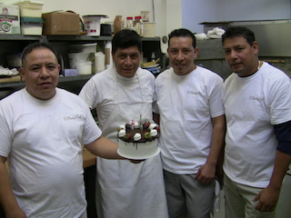 Pastry Chef bakers (l-r) Alfredo, Jose, Javier and Frank.
