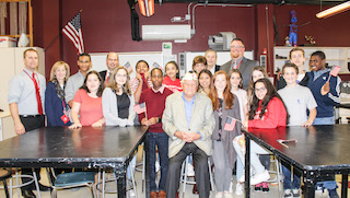 Chick Galella met with Sleepy Hollow middle schoolers to explain the significance of Veteran's Day.