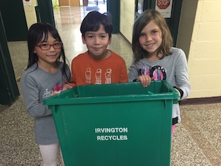 Dows Lane third-grade Recycling Rangers handle the school's recycling every Tuesday