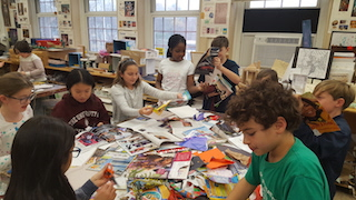 Main Street School students expressed their imagination and created art, inspired by Romare Bearden, for Eyes on Art.