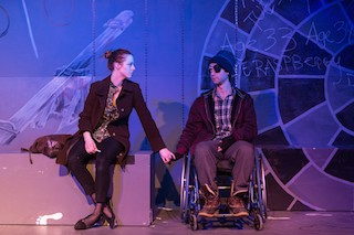 Emily Jackson and Doug Goldring in Arc Stages' Gruesome Playground Injuries by Rajiv Joseph.