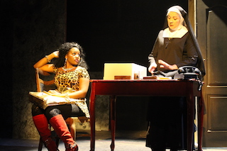 Paulette Oliva (right) with Lindsay Roberts in WPPAC's Sister Act by Joseph Howard.