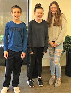 Lucas Martin, Chloe Reidy and Sophia Zielinski (L-R) at the local competition at BASF in Tarrytown.
