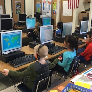 Irvington Union Free School District students participated in World Maths Day and competed in real-time games of mental arithmetic against peers from around the world on March 6.
