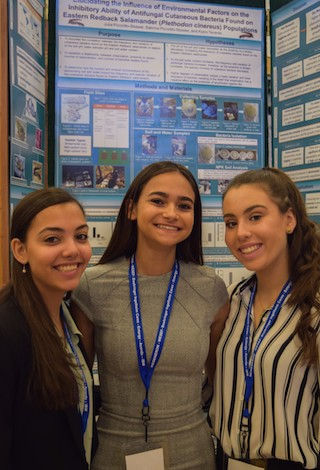 L-R: Sabrina Piccirillo-Stosser, Kiara Taveras, and Julia Piccirillo-Stosser, were among the grand prize winners at WESEF who will be competing at the Intel International Science and Engineering Fair.