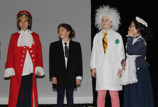 Washington Irving students got a taste of history as they traveled in The Time Machine.