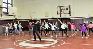 Roosevelt School students practice a jazz dance routine in April with teacher Mamie Duncan-Gibbs.