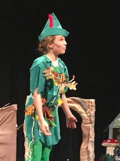 Irvington Middle School sixth-grader Niki DiNardo portrayed Peter Pan in this year's spring show.