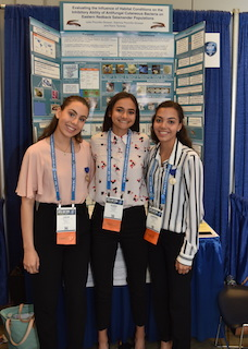 Julia Piccirillo-Stosser, Kiara Taveras and Sabrina Piccirillo-Stosser were among the Grand Award winners at Intel ISEF in Pittsburgh.