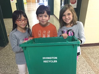 Irvington students help care for the environment through a districtwide recycling and waste reduction program.