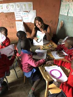 Dows Lane Elementary School teacher Laurel Warager spent two weeks in Kenya educating children through literacy and health fitness programs.