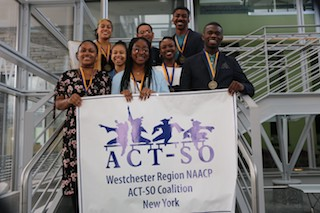 Students and members of the Westchester Region NAACP ACT-SO Coalition