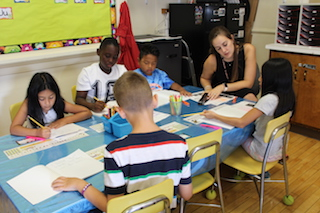 Students spent summer days improving their literacy skills.