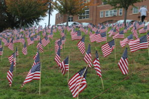 Sleepy Hollow Middle School Veterans Flags