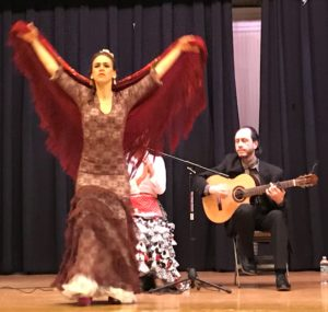 Flamenco instructor Rebecca Thomas shares her love of this art form with Tarrytown's Morse students.