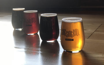 flight at Sing Sing Kill Brewery Ossining