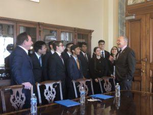 Dr. Leonard Schleifer (Regeneron CEO and President) meeting with Sen. Chuck Schumer