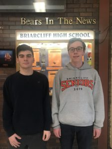 BHS National Merit Finals Noah Benson and Andrew Van Camp.