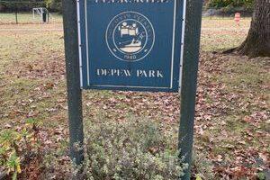 Depew Park sign